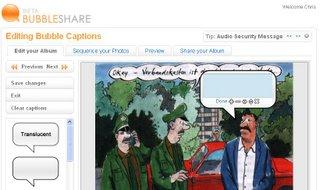Screenshot BubbleShare
