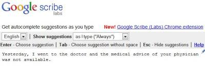 Screenshot Google Scribe